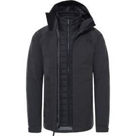 The North Face Thermoball Eco Triclimate Chaqueta Hombre, TNF dark grey heather/TNF black